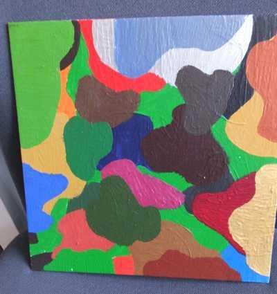 Keilrahmen Bild mit Kindern gemalt - Malen