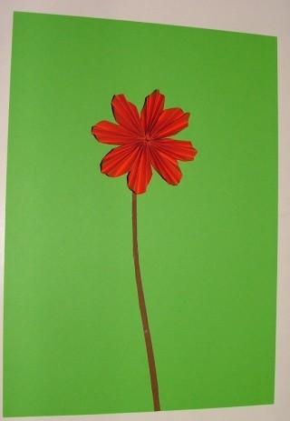 Blume falten aus Papier