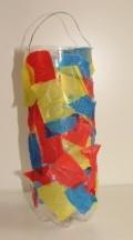 Laterne aus einer Plastikflasche