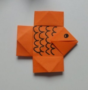 Faltanleitung Fisch