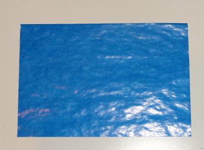 Bastelanleitung transparenter Weihnachtsstern blau Schritt 1