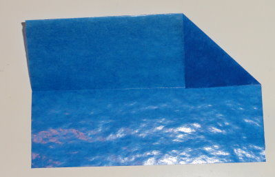 Bastelanleitung transparenter Weihnachtsstern blau Schritt 3