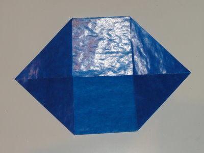 Bastelanleitung transparenter Weihnachtsstern blau Schritt 4