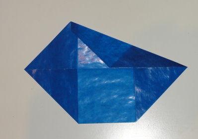 Bastelanleitung transparenter Weihnachtsstern blau Schritt 5