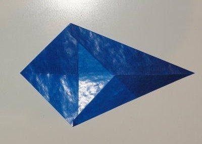 Bastelanleitung transparenter Weihnachtsstern blau Schritt 6