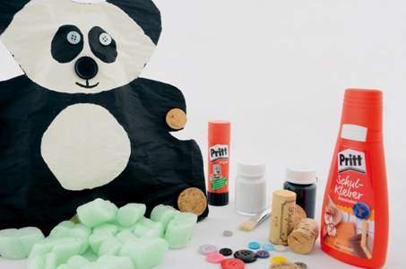 Pandabär aus Papier