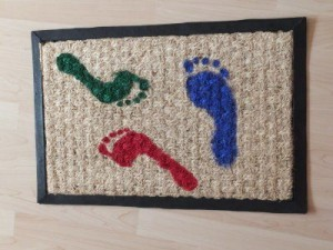 Fußmatte selbst bemalt