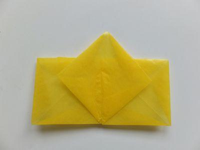 Transparentpapier falten: Stern Bastelanleitung Schritt 7