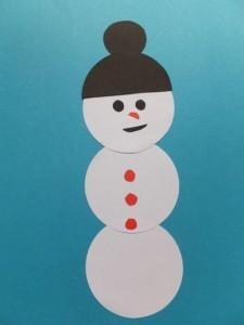 Schneemann aus Kreisen