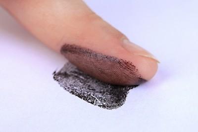 Fingerabdruck nehmen
