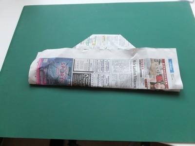Zeitungspapierhut
