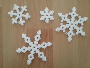 Bügelperlen Schneeflocken