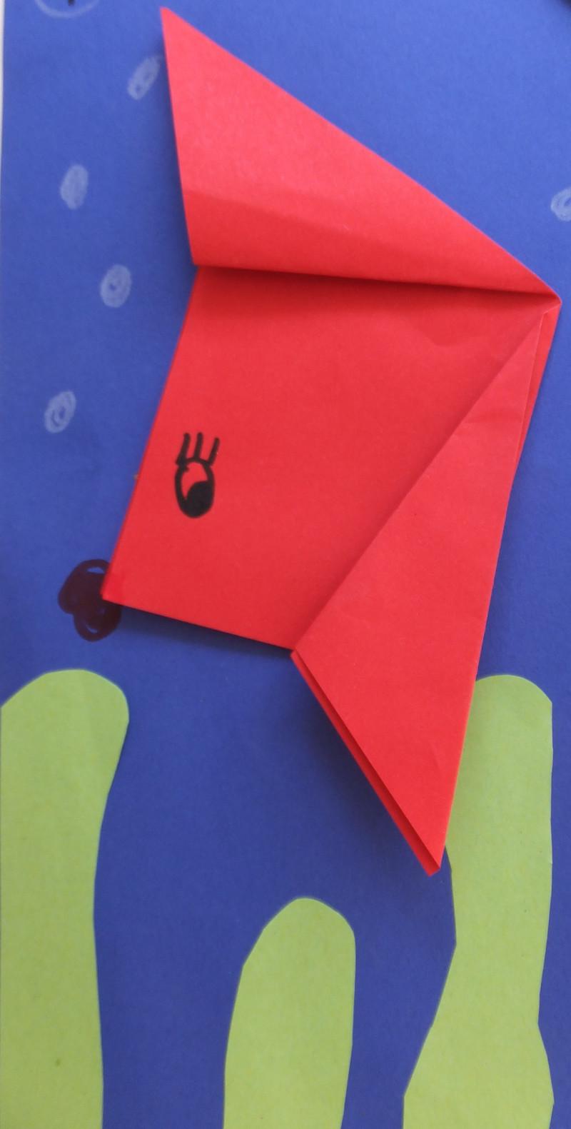 Tiere aus papier basteln fische falten - Fische basteln aus papier ...