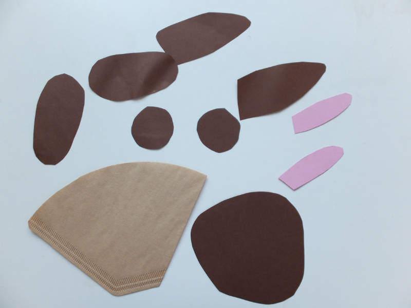 osterhase aus einer filtert te basteln mit kindern. Black Bedroom Furniture Sets. Home Design Ideas