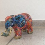 Elefant gestaltet mit Décopatch</span>
