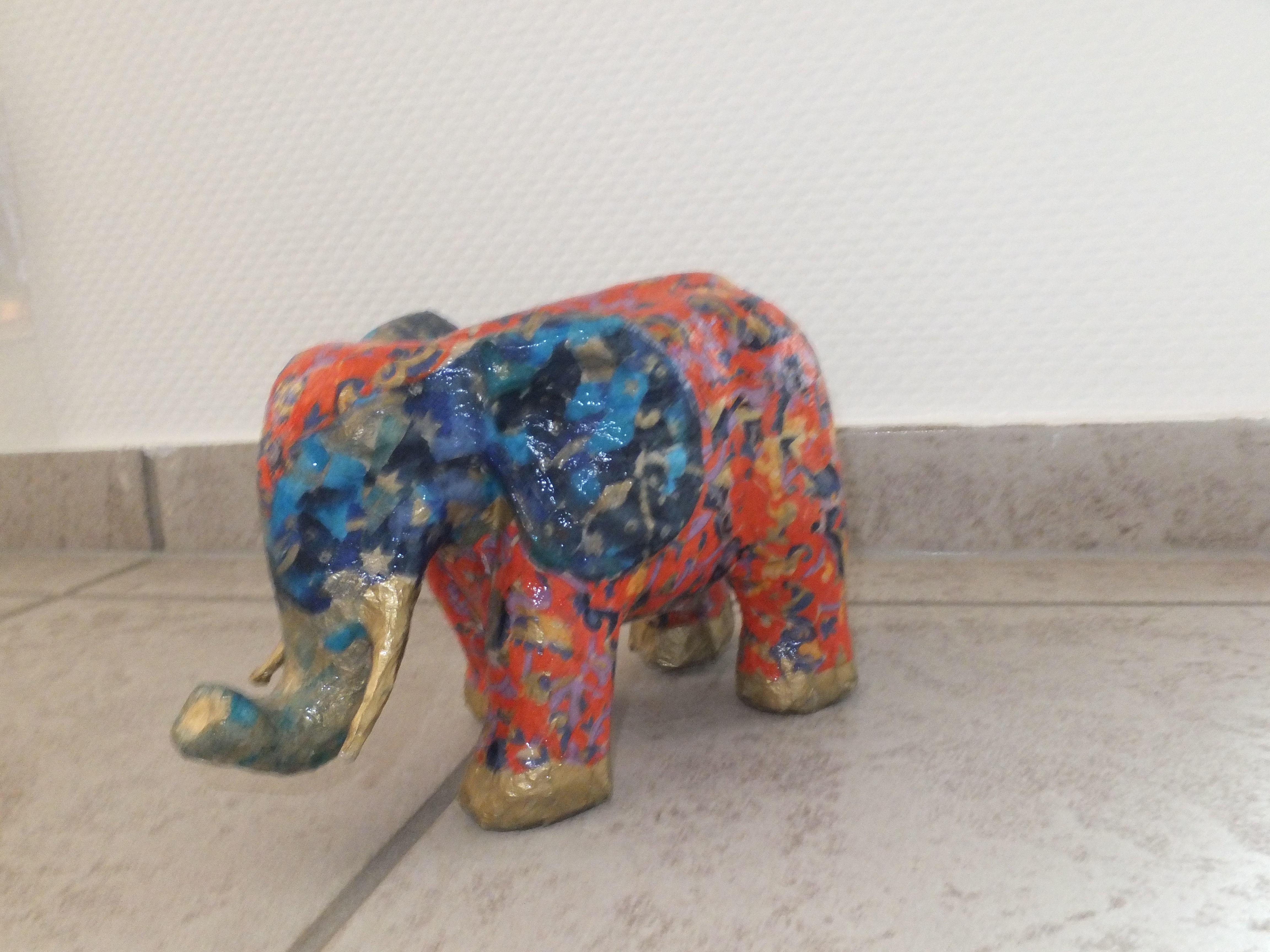 kinderleicht gestalten mit d copatch einen elefanten. Black Bedroom Furniture Sets. Home Design Ideas