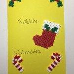 """Weihnachtskarte selber gestalten  <br /><span class=""""second""""> Bügelperlen</span>"""