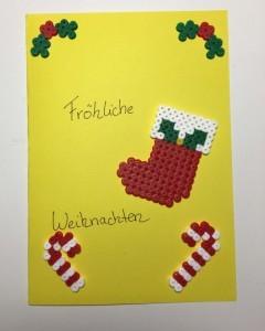 Weihnachtskarte selber gestalten