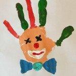 Faschingsclown – Handprint</span>