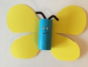 Bastelidee mit Papprollen - Schmetterling