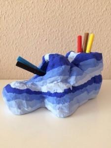 Stiftehalter aus Pappmasche selber gestaltet