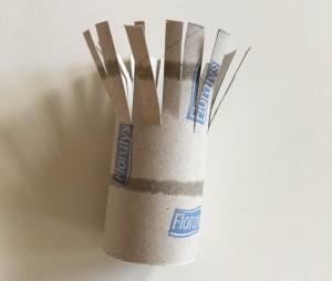 Stempelbilder für Kinder mit einer Papprolle