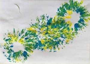 Blume - Stempelbilder für Kinder