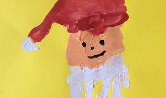 Last Minute Weihnachten Handabdruck Weihnachtsmann