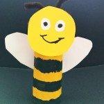 Biene aus einer Papprolle</span>