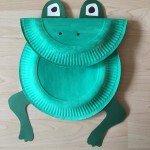 Frosch aus Papptellern basteln</span>