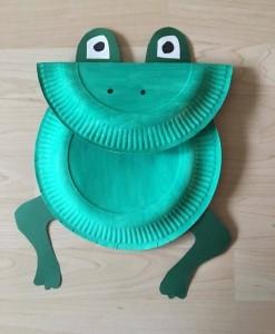 Frosch aus Papptellern