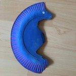 Seepferdchen basteln – mit Pappteller basteln</span>