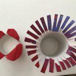 Stempeln mit Kleinkindern – Stempeln mit Papprollen</span>