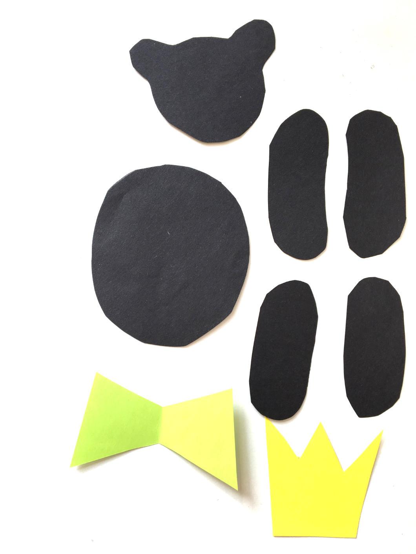 Würfelspiel basteln - Einzelteile Teddybär