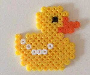 Ente aus Bügelperlen