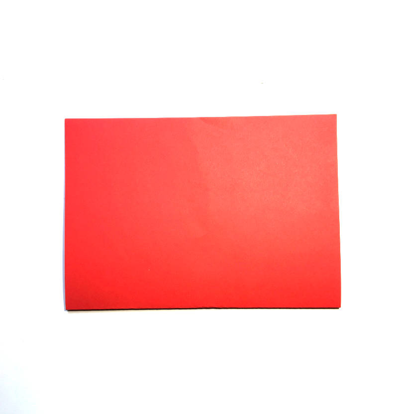 gefaltetes Papier rot