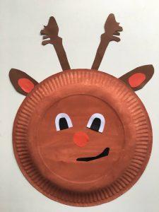 elch Weihnachten Pappteller Weihnachtsbasteln