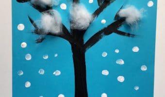 Winterbild malen