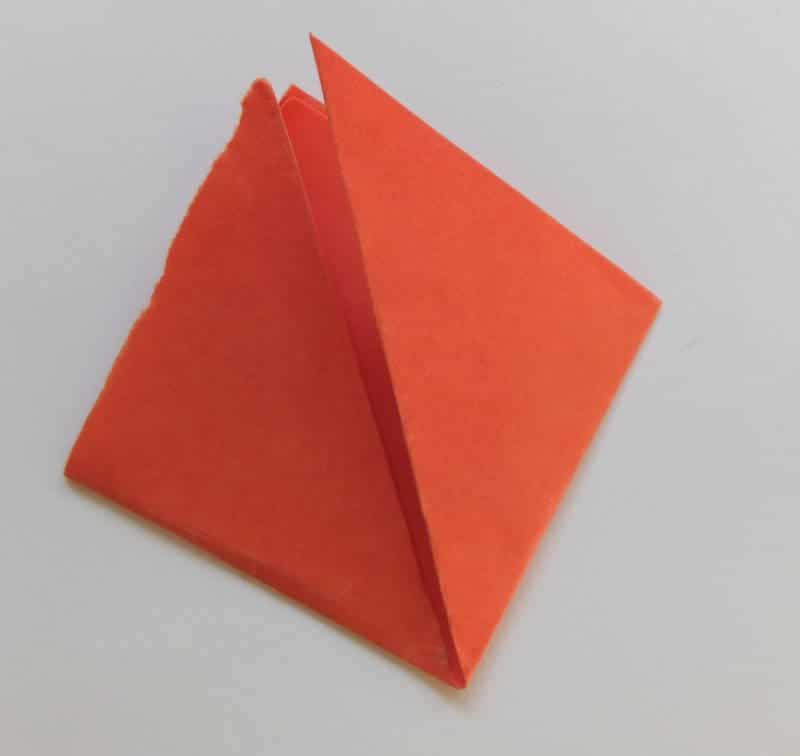 Papierblume falten