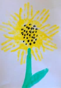Sonnenblume stempeln
