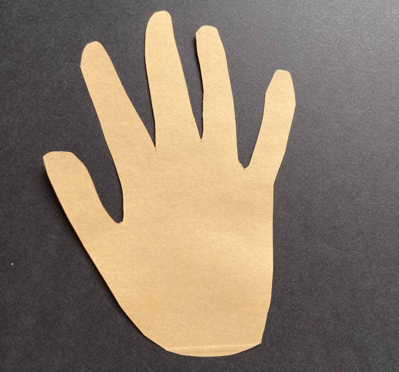 ausgeschnittene Hand