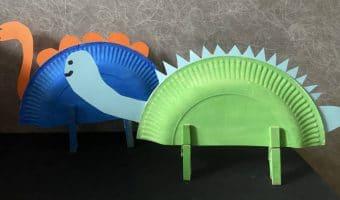Dinos aus Papptellern basteln